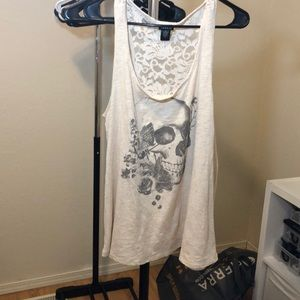 Torrid Skull Top Lace Back